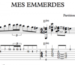 """Transcription """"Mes Emmerdes"""" par Jean-Félix Lalanne"""