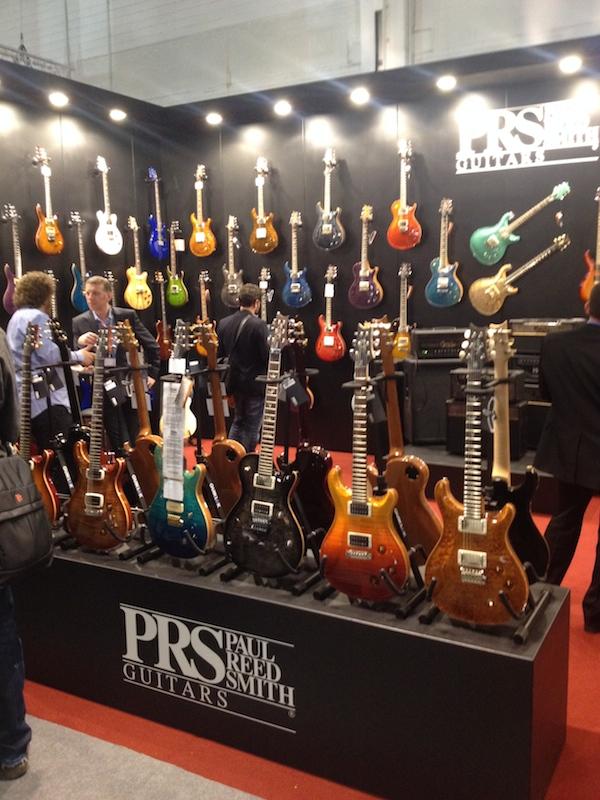 Le stand PRS au Musikmesse 2014