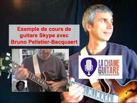 Cours de guitare Skype avec Bruno Pelletier-Bacquaert