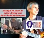 Un 1er cours de guitare via Skype avec @brunopelbac : j'adore !