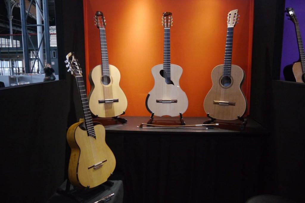 Guitares du luthier Julien Lebrun à Musicora 2015