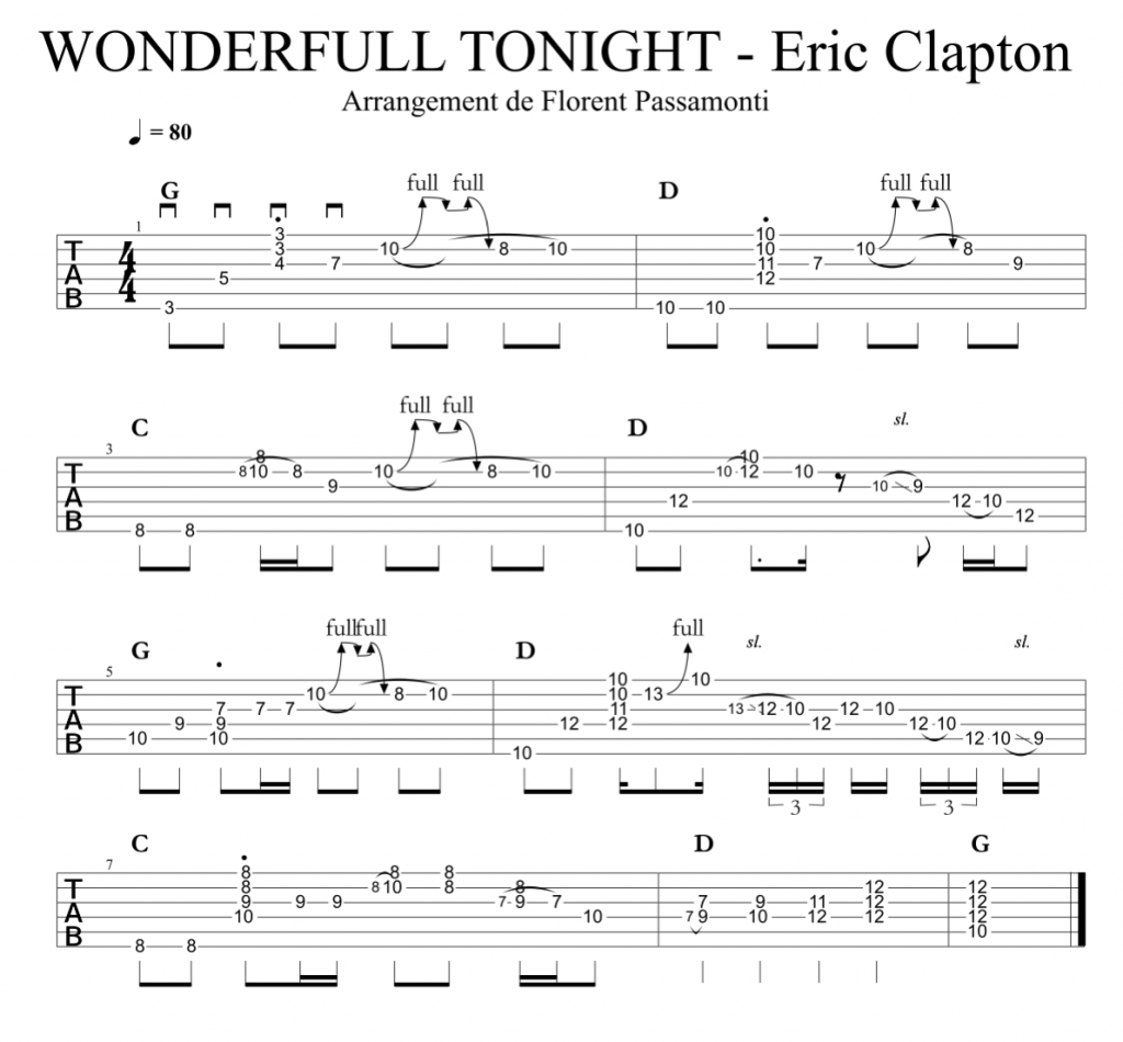WONDERFULL TONIGHT - Eric Clapton