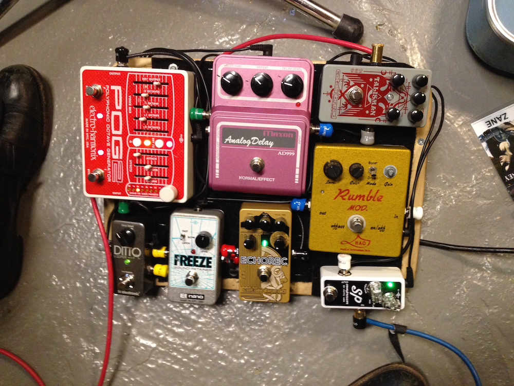 Zane Carney travel pedal board