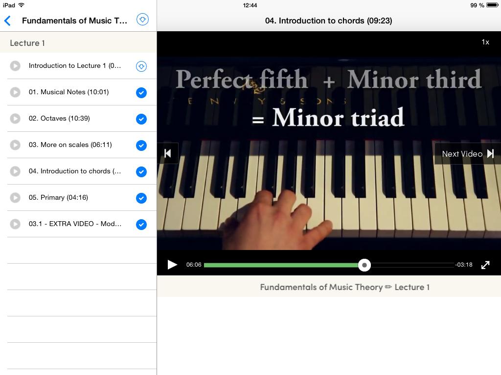 Coursera iPad