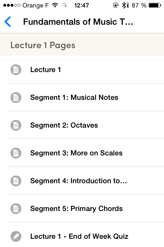 Coursera iPhone