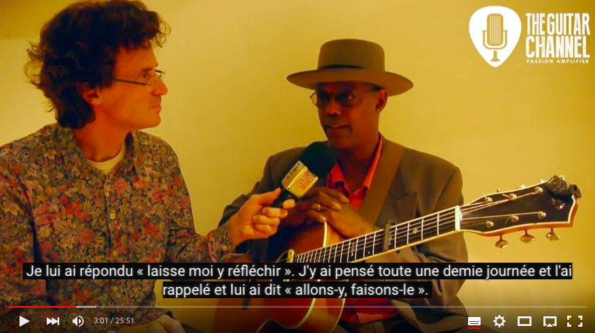 Interview Eric Bibb en version originale sous-titrée en français