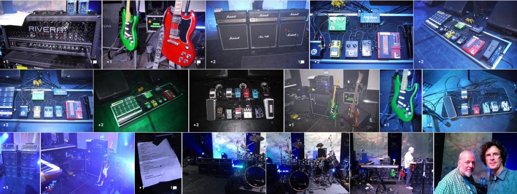 Mike Keneally durant la tournée de Joe Satriani