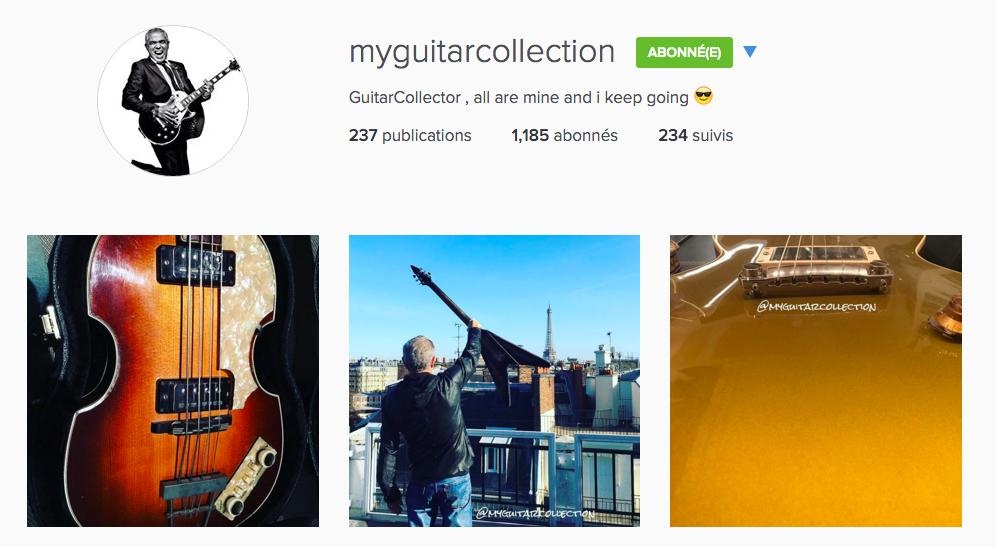 Compte Instagram @MyGuitarCollection