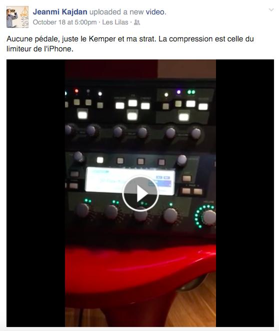 Post Facebook de Jean-Michel Kajdan sur le Kemper