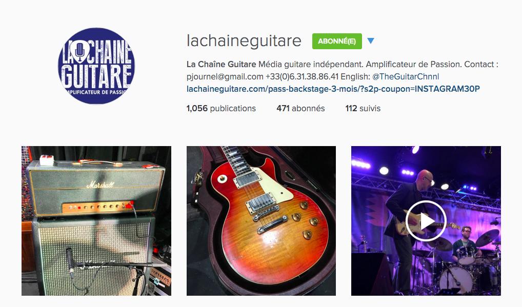 Instagram La Chaîne Guitare