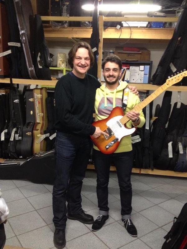 Interview Simon Ghnassia et ses deux Telecaster du luthier Didier Duboscq