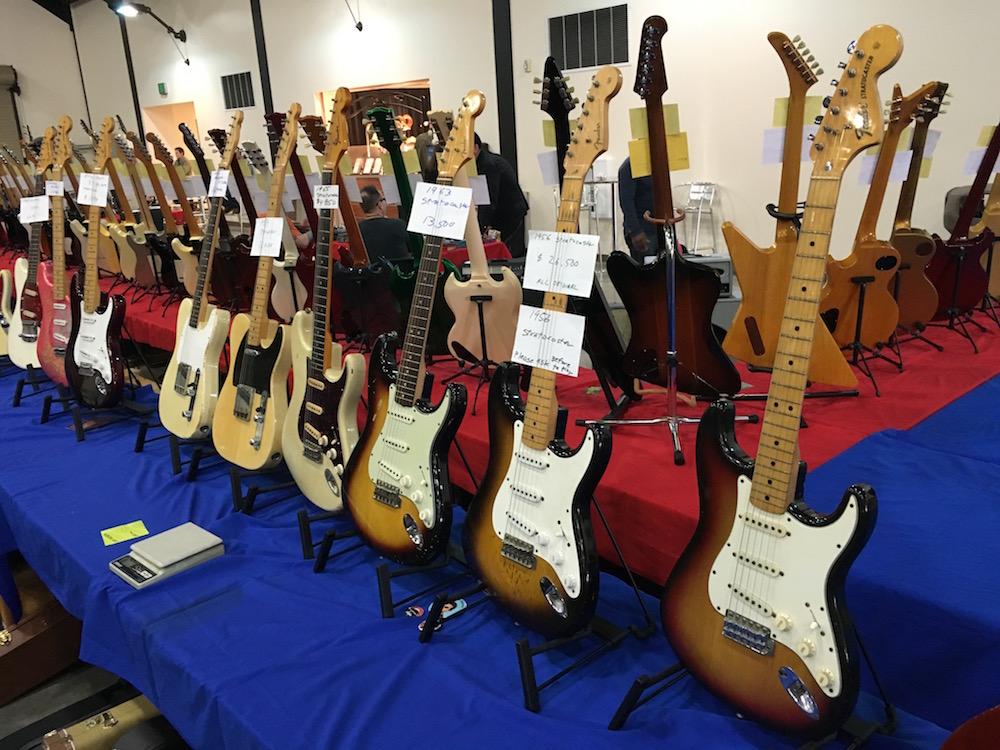 4 Amigos Guitar Show Strats
