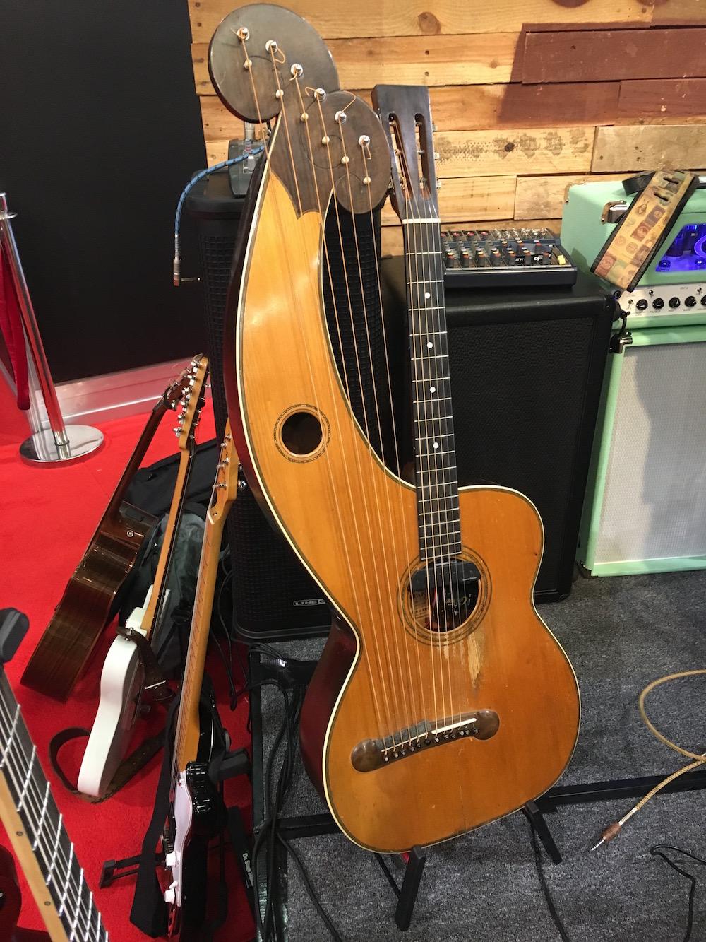 NAMM2016 Don Alder Dyer harpguitar