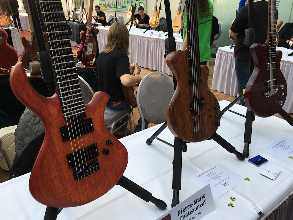 Luthiers Holy Grail Guitar Show 2015 - Guitares Pierre-Marie Châteuneuf PMC Guitars - Holy Grail Guitar Show 2015