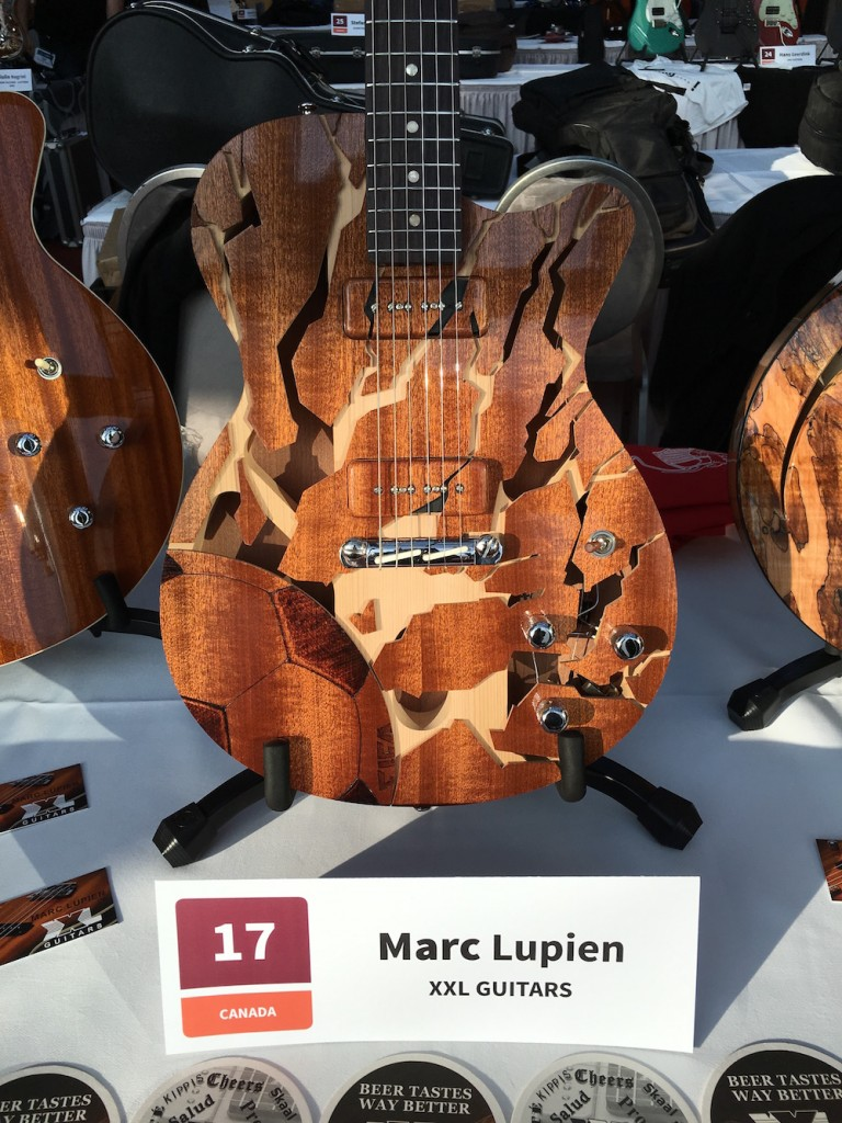 Luthiers Holy Grail Guitar Show 2015 - Marc Lupien de XXL Guitars - Holy Grail Guitar Show 2015