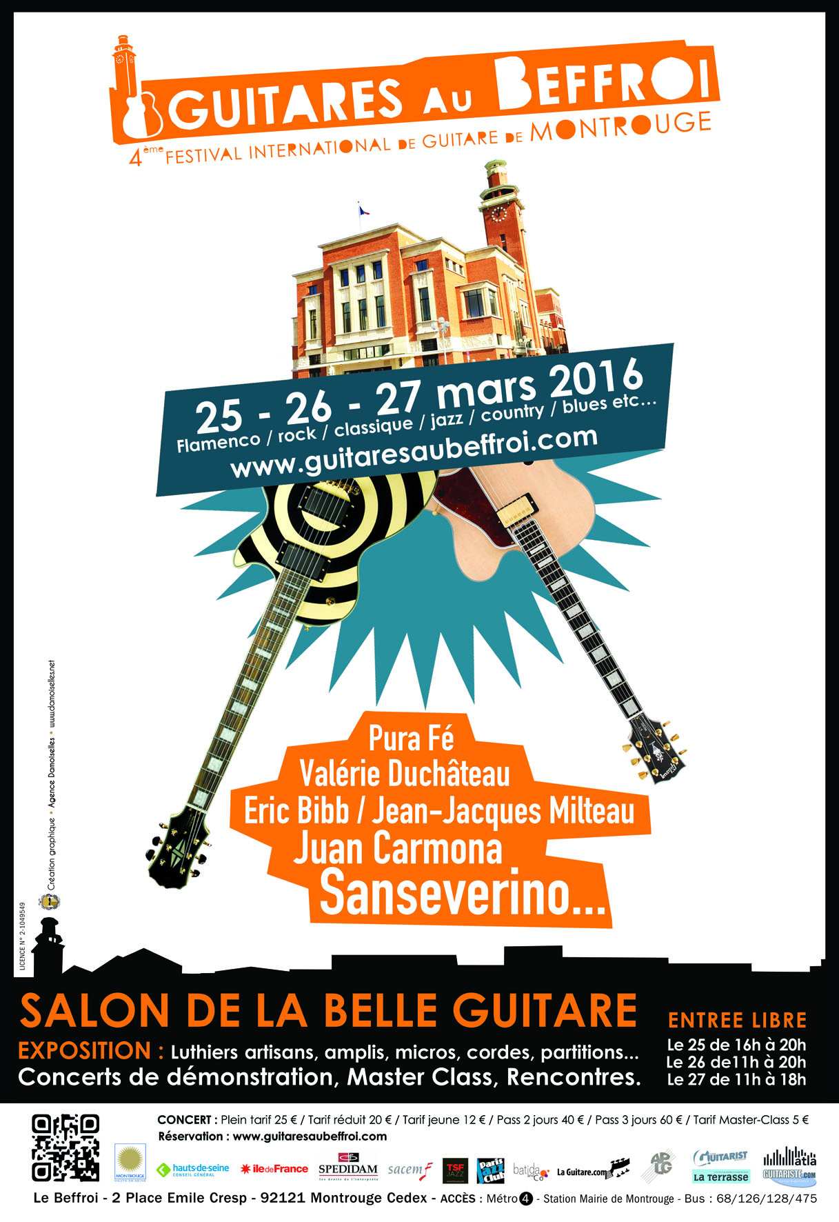 Affiche Guitares au Beffroi 2016
