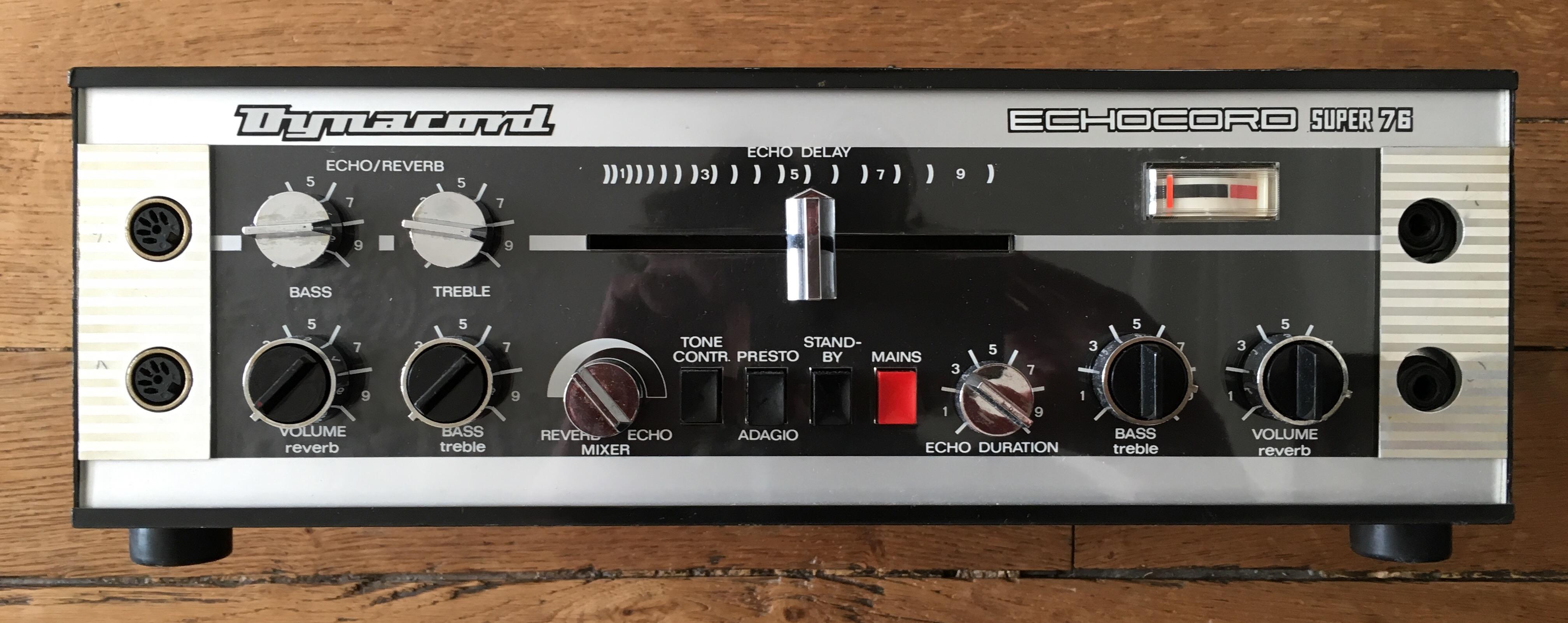 Test Dynacord Echocord Super 76 : un véritable écho à bande