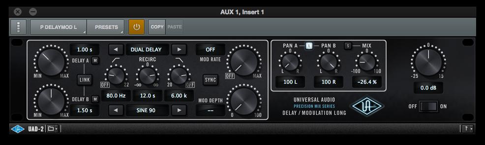 UniversalAudioPluginDelai