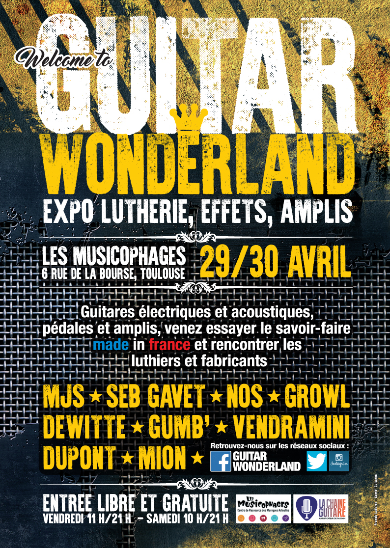 Guitar Wonderland : expo guitare à Toulouse