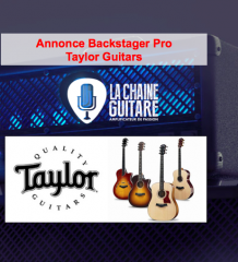 Annonce Backstager Pro Taylor Guitars