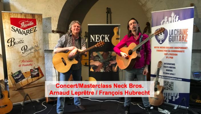 Vidéos du concert/masterclass Neck Bros. (Hubrecht & Leprêtre)