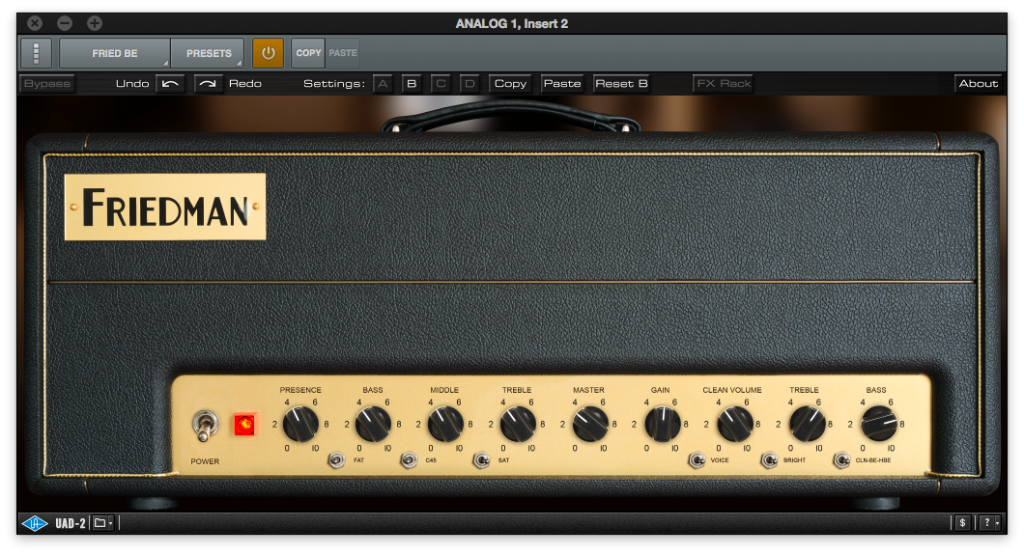 "Micros Blackouts ""Jeff Loomis"" de Seymour Duncan - Universal Audio plugin Friedman BE-100"