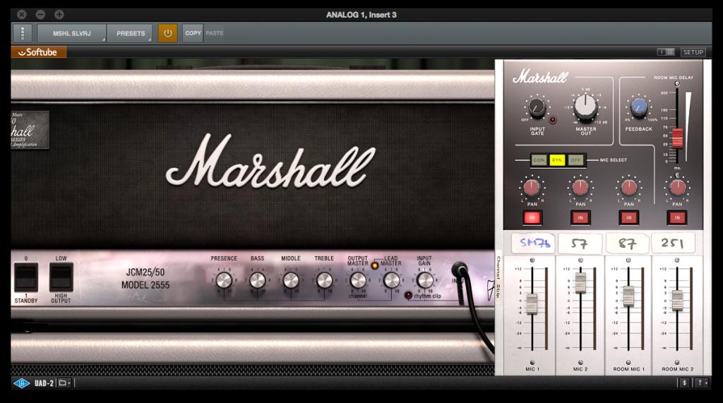 "Micros Blackouts ""Jeff Loomis"" de Seymour Duncan - Universal Audio plugin Marshall Jubilee 2555"