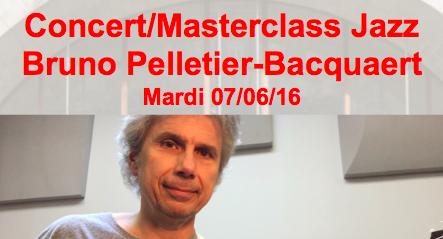 Concert/Masterclass Bruno Pelletier-Bacquaert 07/06/16