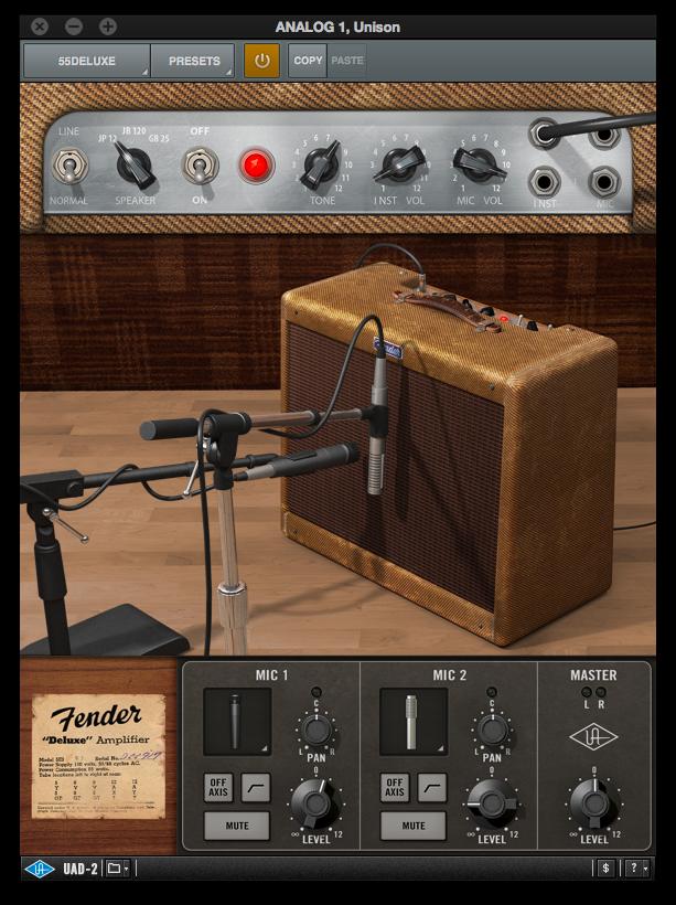Universal Audio Fender Deluxe amp plugin - La Chaîne Guitare