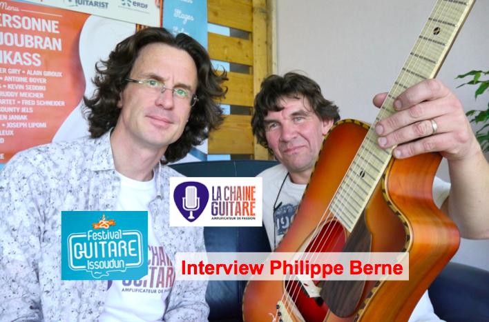 Interview du luthier Philippe Berne au Festival Guitare Issoudun
