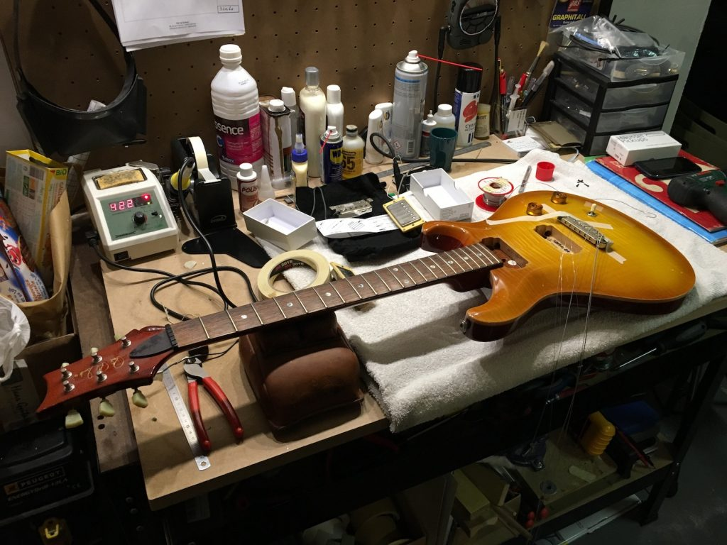 Installation micros Häussel sur une PRS McCarty