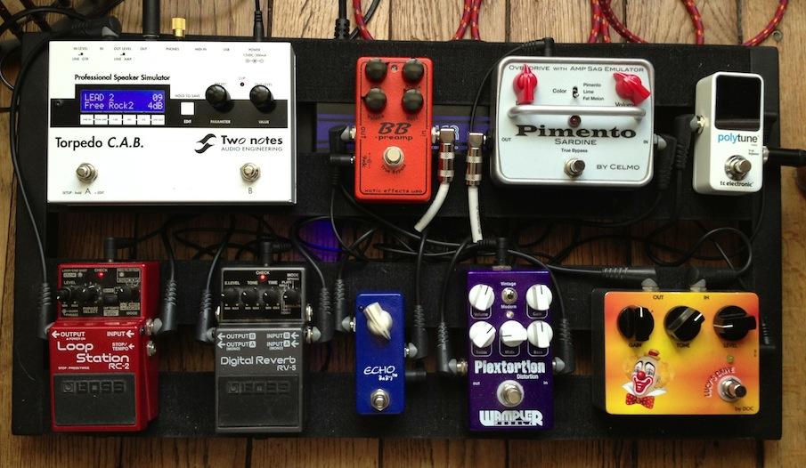 Setup vidéo guitare 2013 : Lumix - Pédalier - Torpedo CAB