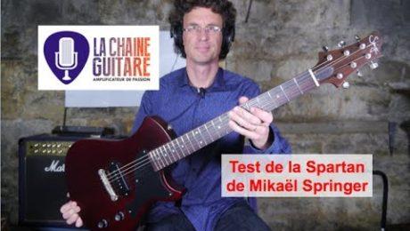Test Guitare : la Spartan Springer (@SpringerGuitars) une Junior au top