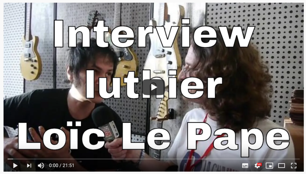 Interview Loïc Le Pape durant Guitares au Beffroi 2015