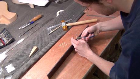 Construction d'un manche de guitare électrique - Projet Spartan épisode #6 - Luthier Mikaël Springer