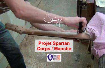 Corps/manche d'une guitare type Les Paul Junior - Projet Spartan épisode #12