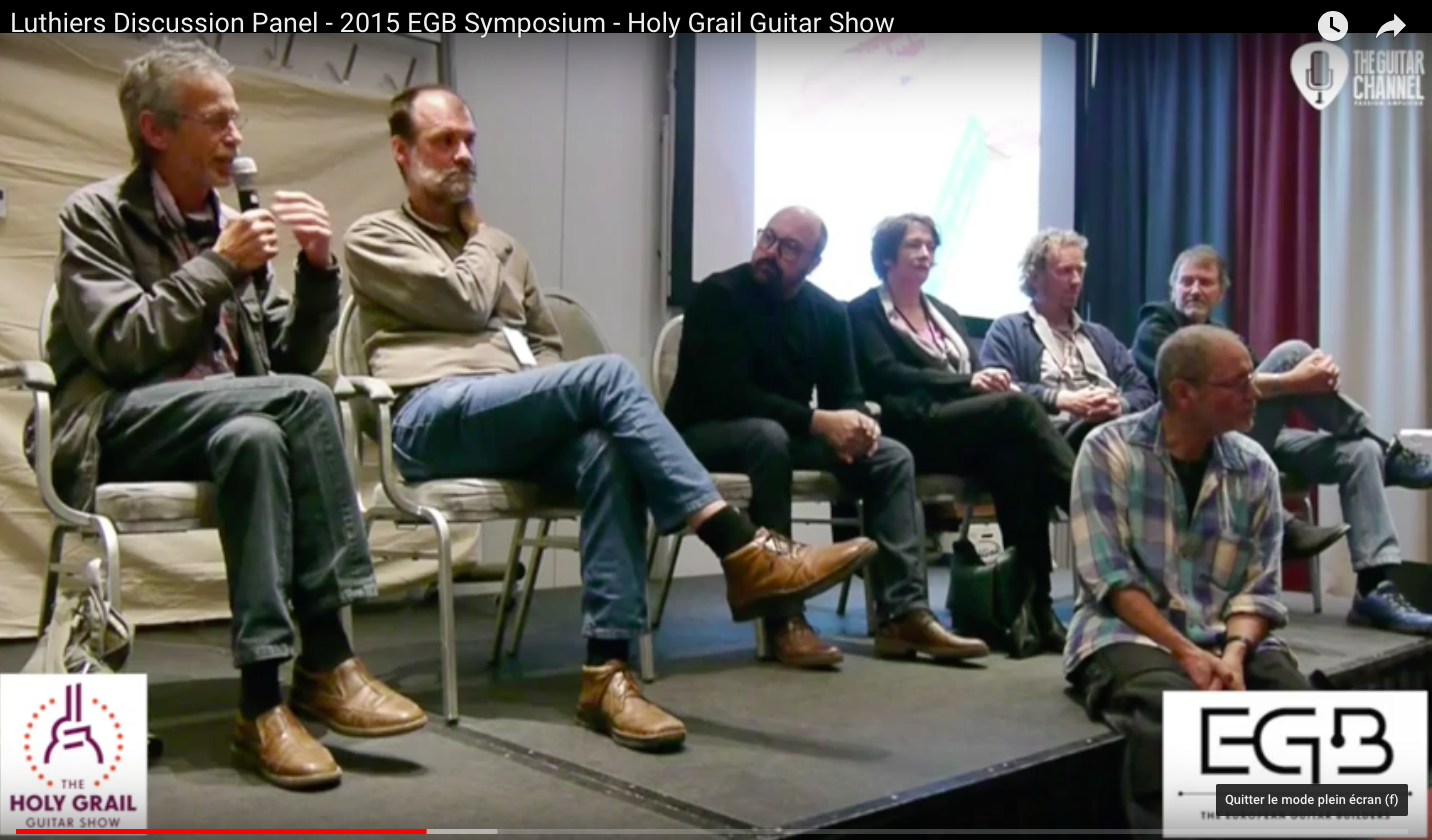 Table ronde des luthiers - 2015 EGB Symposium - Holy Grail Guitar Show