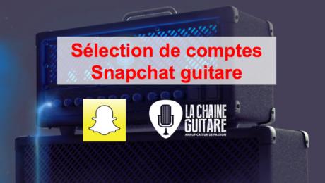 Comptes Snapchat guitare à suivre