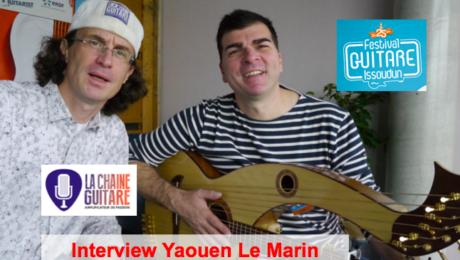 Interview Yaouen le Marin guitare-harpe à la main