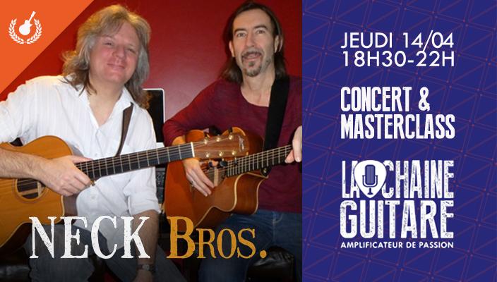 Concert Masterclass Neck Bros (Arnaud Leprêtre et François Hubrecht) - Jeudi 14/04/16 chez Dupont des Arts