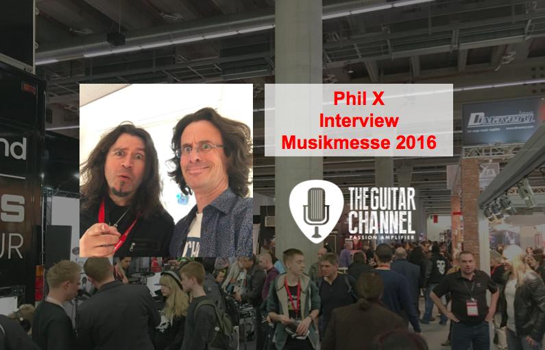 Interview Phil X, guitariste de Bon Jovi au Musikmesse 2016