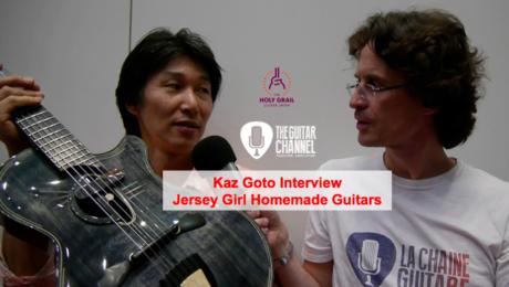 Interview Kaz Goto luthier japonais de Jersey Girl Homemade Guitars durant le Holy Grail Guitar Show