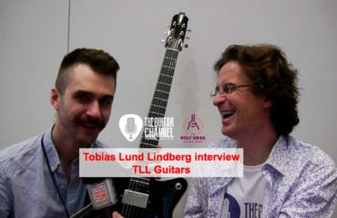 Interview Tobias Lund luthier de TLL Guitars durant le Holy Grail Guitar Show