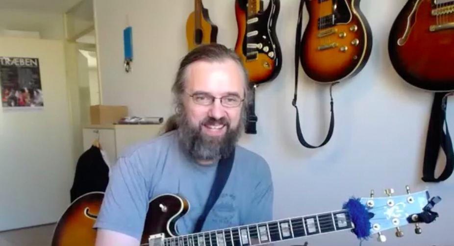 Jens Larsen guitariste Jazz et youtubeur