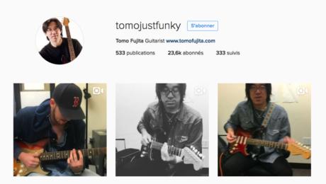 Tomo Fujita joue Mixolydien sur Instagram
