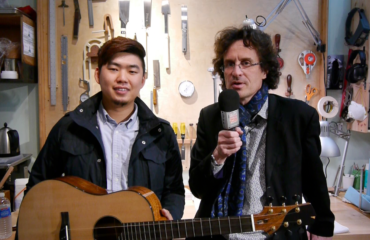 Isaac Jang luthier à Hollywood en plein Los Angeles