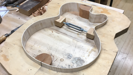 Chronique Lutherie Martin Tremblay - Fabrication guitare archtop