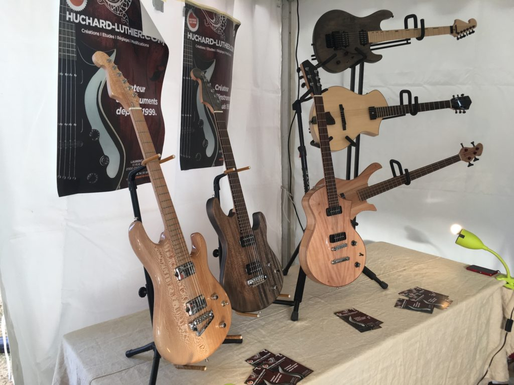 Guitares du luthier Laurent Huchard - Guitare en Scène 2017