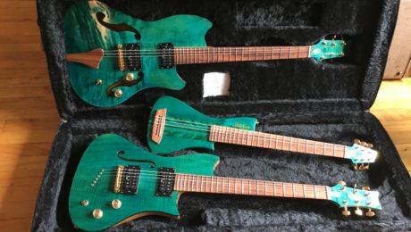 Les 3 guitares du projet Famiglia du luthier Pablo Massa