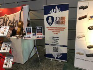 Stand La Chaîne Guitare au Guitar Summit à Mannheim en Allemagne